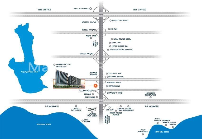 شقق للبيع باطلالة بحرية في اسطنبول وقريبة جدا من المطار photos #1