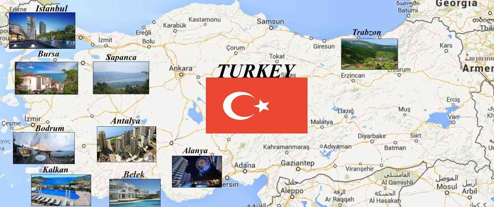 Turkiye Map